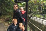 Dad runs Ricoh Healthy Hike and Run with kids