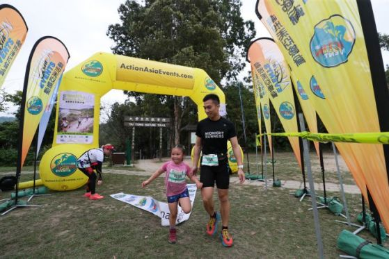 Families bond over fitness and fun at Action Asia Healthy Hike and Run2020